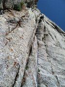 "Rock Climbing Photo: Leading P2 ""the awkward chimney"" on The ..."
