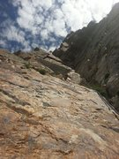Rock Climbing Photo: Leading through the crux. It was exactly as descri...