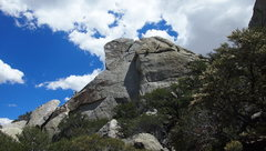 Rock Climbing Photo: View of the route as we were hiking in to it. The ...