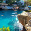 Victory gainers at Cala Santanyi. <br> <br> Photo by Peter Wanberg