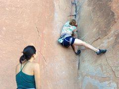 Rock Climbing Photo: Wall St climb, I forget name.