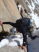 "Rock Climbing Photo: This pic is taken looking down the ""rappel po..."