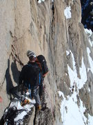 Rock Climbing Photo: This is the second rap station along the Midi-Plan...