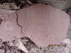 Rock Climbing Photo: the plaque ..