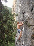 Rock Climbing Photo: Brian climbing Everything's Big In Texas, 5.10a