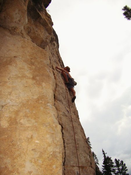 Rock Climbing Photo: Brian figures out Better Off Dead 5.10c  Big Pictu...