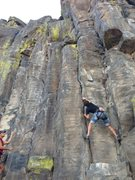 Rock Climbing Photo: Troy starts up Dead on Arrival