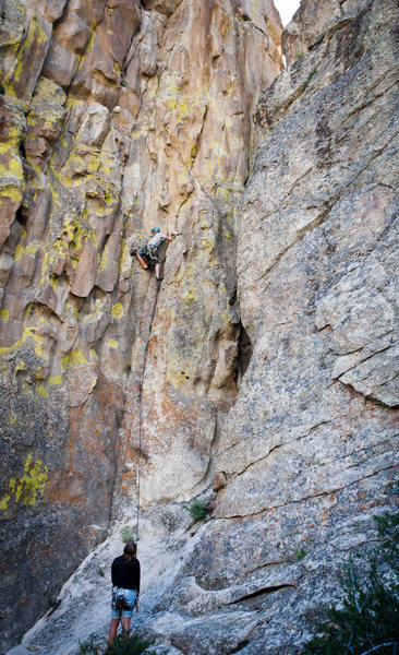 Rock Climbing Photo: Lots of good stemming on this route.