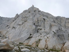Rock Climbing Photo: The start of the route is up through the chimney s...