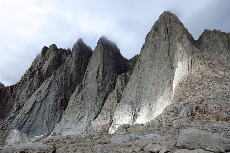 Rock Climbing Photo: The Whitney crest in the clouds