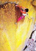 Rock Climbing Photo: Randy Leavitt on Pyromania (5.13a), The Needles   ...