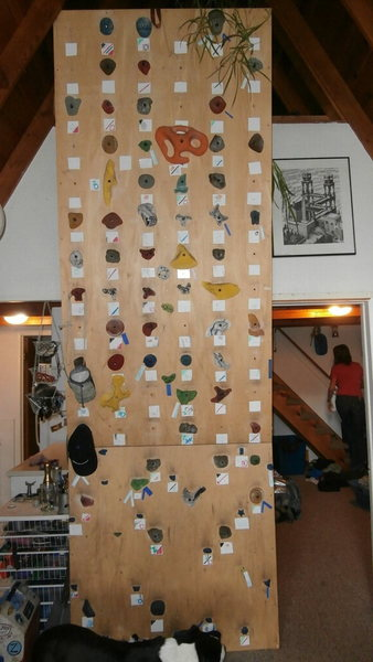 Rock Climbing Photo: my woody!  the top 8 ft is slightly overhanging.  ...