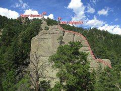 Rock Climbing Photo: Top bit.