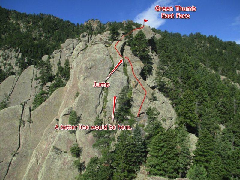 Rock Climbing Photo: Green Thumb.
