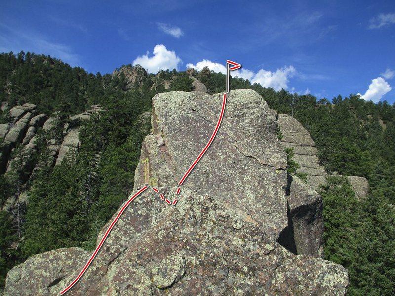 Rock Climbing Photo: Summit bit.