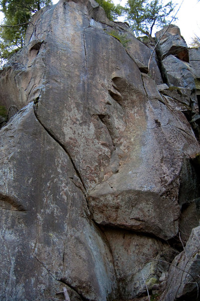 Rock Climbing Photo: Follow the crack out left then straight up on to t...