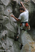 Rock Climbing Photo: Making the third clip