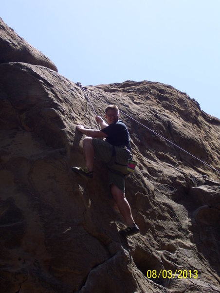 Jason Yost posing for a shot at Nabisco Canyon, Stoney Point, Simi Valley, CA