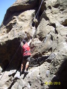 Rock Climbing Photo: Cracking it up on Nabisco Canyon, Stoney Point, Si...