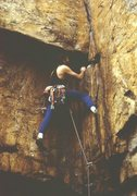 Rock Climbing Photo: Leading something on TWall or Sunset in Chattanoog...