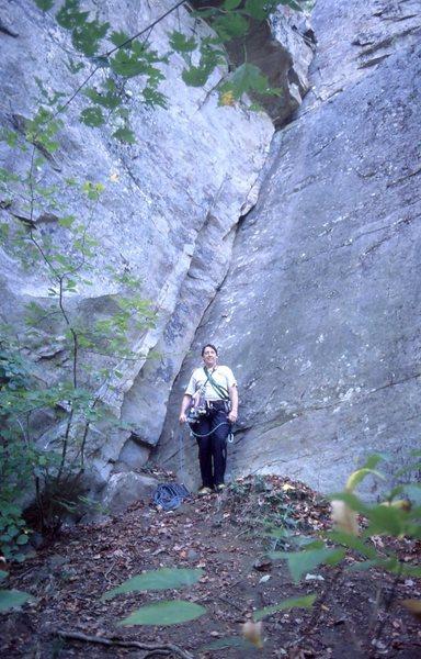 Rock Climbing Photo: Sweet climb somewhere in N. GA