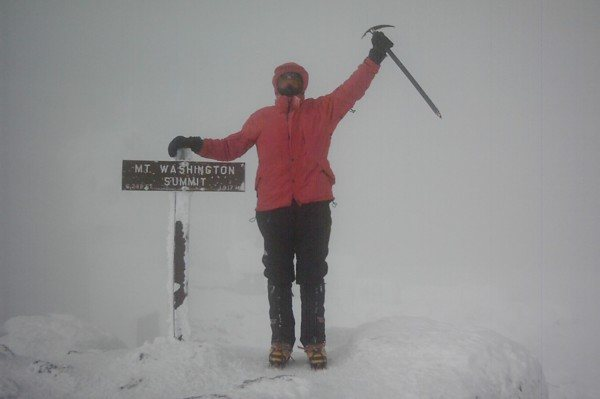 Rock Climbing Photo: Me on summit of Mt Washington in NH, Feb 2008 .. 5...
