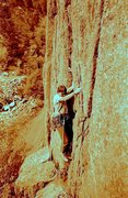 Rock Climbing Photo: Starting up Lone Pine Tree Left in No Name, Glenwo...