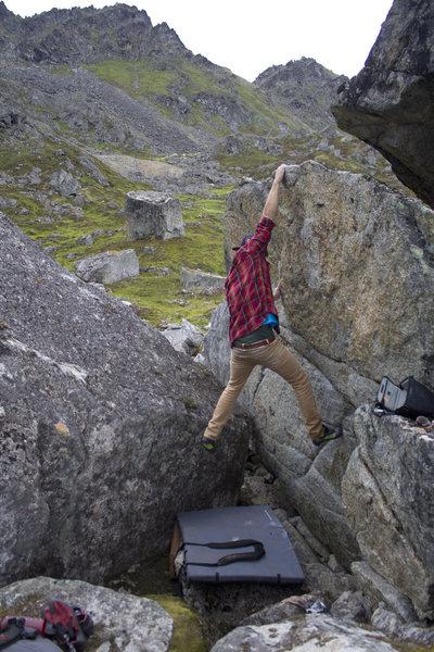 Rock Climbing Photo: Keenan nailing the top.