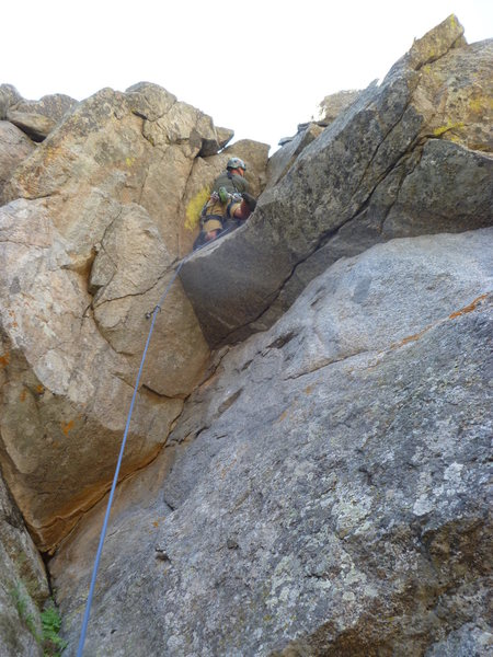 Rock Climbing Photo: Low on the second pitch.