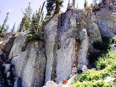 Rock Climbing Photo: A: Scream Seam, 5.10a B: Fret Arete, 5.10a C: Fin ...