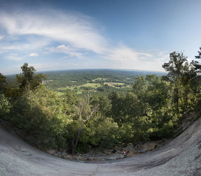 Rock Climbing Photo: View from halfway up the slab area face