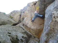 Rock Climbing Photo: Stemmed on the second pitch.