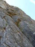 Rock Climbing Photo: The rope is following the pitch.