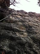 Rock Climbing Photo: Almost a straight line to the top.