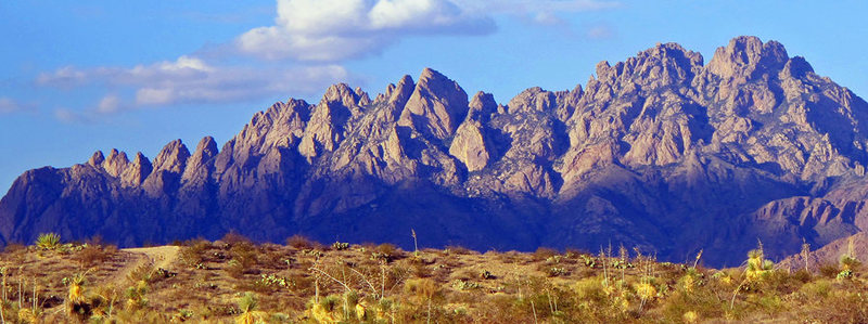 Rock Climbing Photo: Organ Mountains from the west. Photo George Ray.