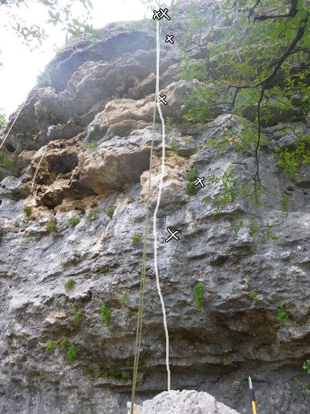 Rock Climbing Photo: Menopause Mania Climb Line