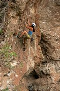 Rock Climbing Photo: Heading into the steep crux section. August 2013.