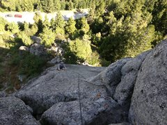 Rock Climbing Photo: Brian enjoying the knobby slab
