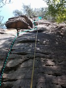 Rock Climbing Photo: Awesome trad climb. Concentrating on using good cr...