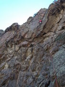 "Rock Climbing Photo: Moving toward the crux on ""The Chaser"", ..."