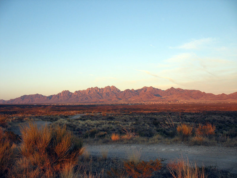 Panorama of Organ Mountains from the West. Photo George Ray.