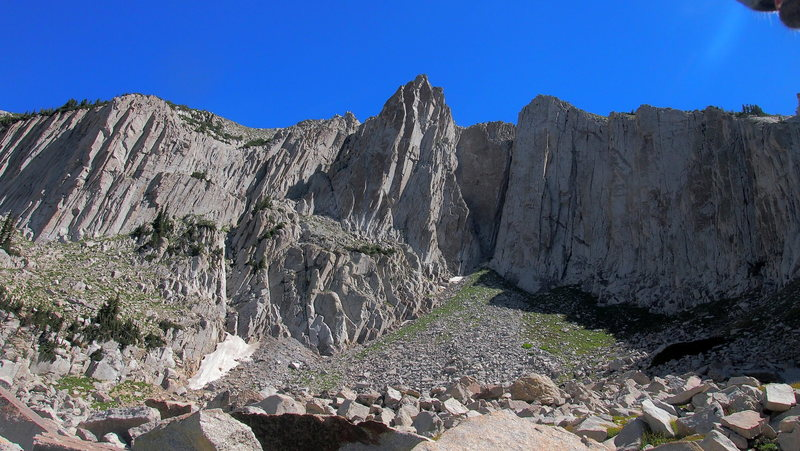 Rock Climbing Photo: Just one small piece of snow. Might be snowmelt at...
