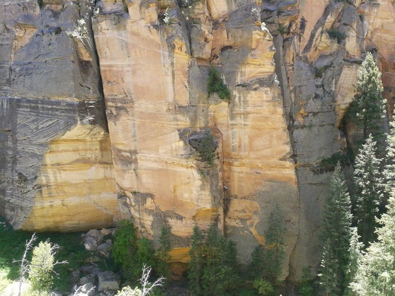 Rock Climbing Photo: from left to right: Ultimate OW, Ultimate Dihedral...