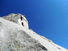 Rock Climbing Photo: Rap off the West Face. Same rap for other routes t...