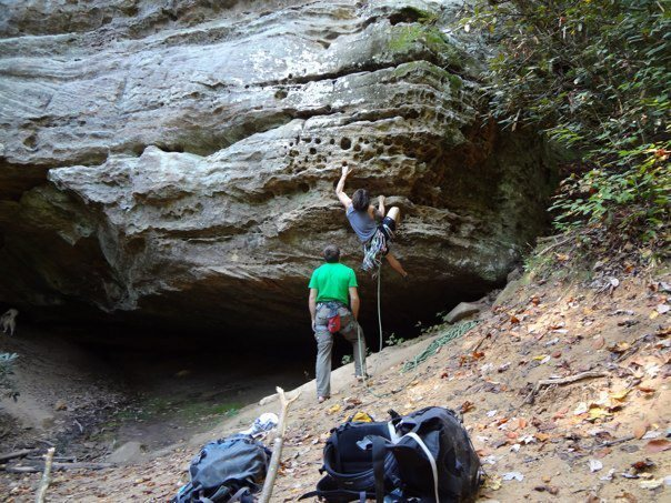 Cool 5.9 at the red river gorge