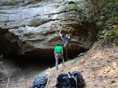 Rock Climbing Photo: Cool 5.9 at the red river gorge