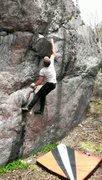 Rock Climbing Photo: Sticking the deadpoint