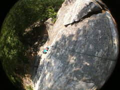 Rock Climbing Photo: first pitch up to the tree