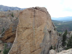 Rock Climbing Photo: Climbing Slabbed Up-Side da Head with a view of th...
