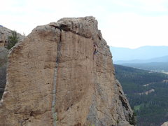 Rock Climbing Photo: Just past the crux at the top, fun climbing and gr...